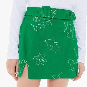 HOST PICK 🌷Capulet UO - Green Belted Mini Skirt
